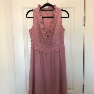 Pink Ann Taylor Loft midi dress